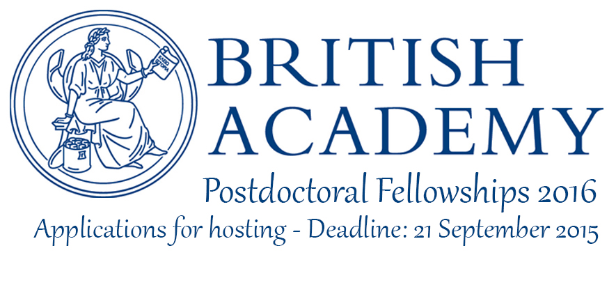 British Academy Postdoctoral Fellowships 2016