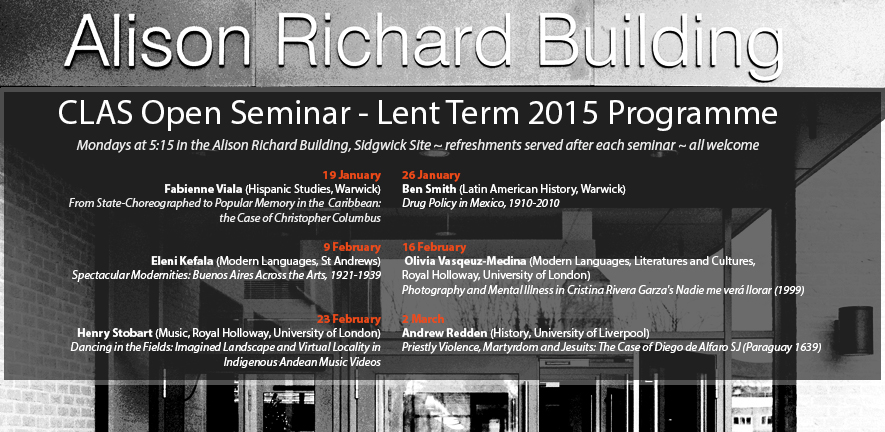 Lent Term Open Seminars 2015