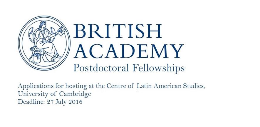 British Academy Postdoctoral Fellowships at the University of Cambridge