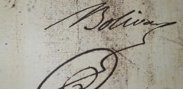 Bolivar signature