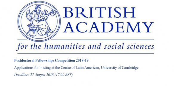 British Academy Postdoctoral Fellowships Competition 2018-19