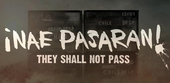 Still from film Nae pasarán