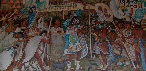 Mural by Diego Rivera, Palacio Nacional, Mexico City