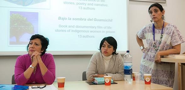 Left-to-right: Elena de Hoyos, Marina Ruiz, Aida Hernandez (photo by Samuel Mather)