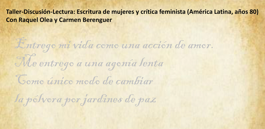 Taller Discusion Lectura Escritura De Mujeres Y Critica Feminista