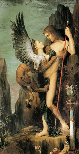 Oedipus and the Sphynx by Gustave Moreau